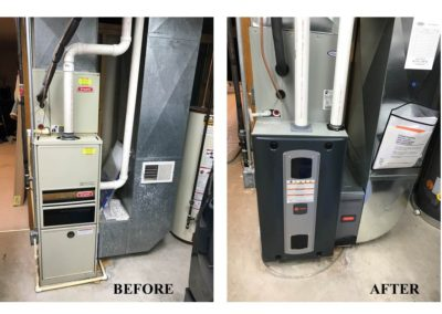 Before & After Furnace Replacement